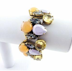 J. Crew Statement Bracelet Lavender + Gold